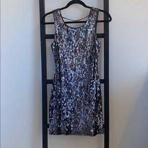 Mini grey sequin dress